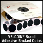 VELCOIN® Brand Adhesive Backed Coins